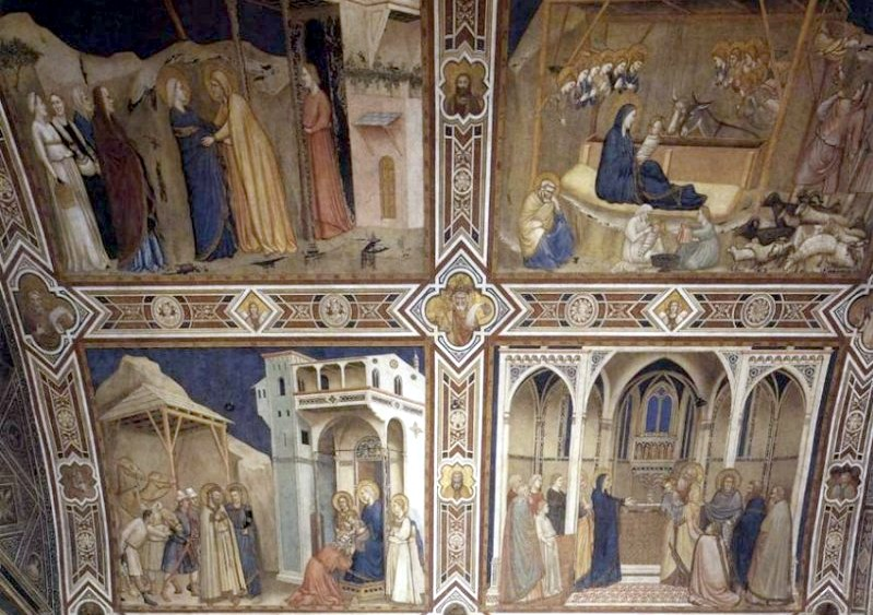 Saints and Stories of the Madonna by Giotto - Assisi Lower Church of St Francesco